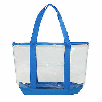 New Liberty Bags Clear Zip Top Tote Bag with Double Handles