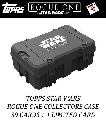 Topps Star Wars Rogue One Collectors Case 39 Cards + 1 Limited Card New And Seal