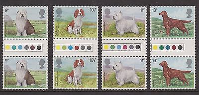 Gb Mnh Tl Gutter Pair Stamp Set 1979 Dogs Sg 1075-1078 10% Off 5+