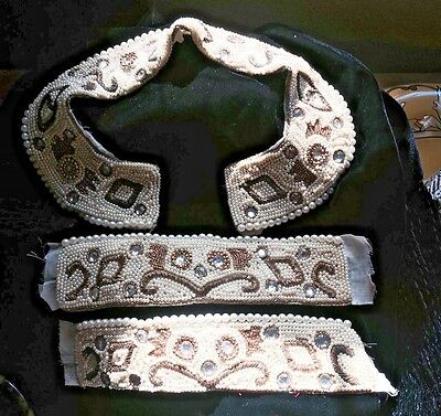 Vintage Beaded Collar and Cuffs