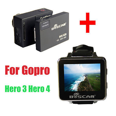 Boscam BOSG20 FPV 5.8G 32CH Wireless Transmitter+Watch Receiver for Gopro Hero 3