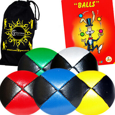 5x Thud Juggling Balls + GRATIS Mr Babache Buch / Jeder Col