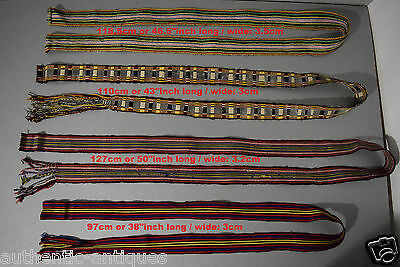 Lot of 4pcs. ANTIQUE Thracian OTTOMAN  HAND-WOVEN FOLK ART Costume BELTS - RARE!