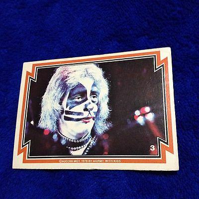 Vintage KISS Trading Card #3 Peter Criss 1978 Aucoin