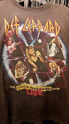 Def Leppard Vintage 1993 T Shirt XL Adrenalize rock metal 7 day weekend tour
