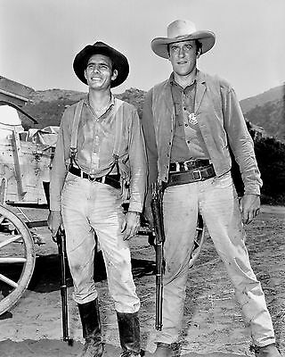 "James Arness And Dennis Weaver In ""gunsmoke"" - 8X10 Publicity Photo (Zy-440)"