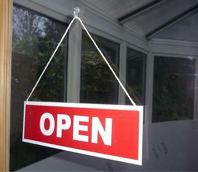 Open / Closed Hanging Shop Sign. Choice of 16 colours Free postage