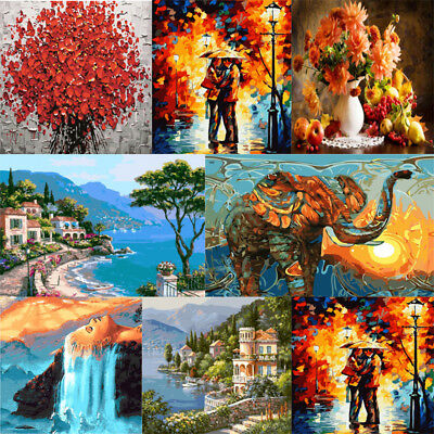 DIY Digital Oil Painting Kit Paint by Numbers on Canvas Unframed Home Decor