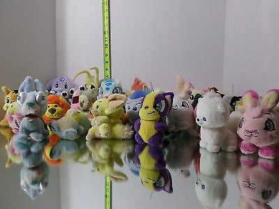 Lot of 32 Neopets Plush Stuffed Animals No Tags Small Toy Doll Dog Squirrel