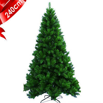 Clearance: 2.4m 8ft Luxury GREEN Artificial High Density Christmas Tree 1300tips