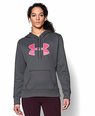 Under Armour Womens Storm Armour Fleece Printed Big Logo Hoodie, Carbon Heather