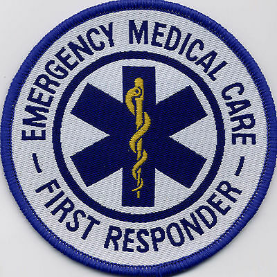 Emergency Medical Care First Responder Star of Life Badge Patch 88mm Circle
