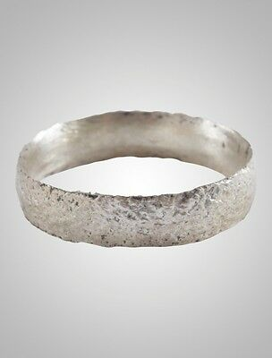 French Country Wedding Band, Viking Age Ring, C.866-1067A.D. Size 7 1/4  (17mm)(