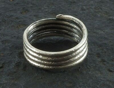 Ancient Viking Coil Snake Ring  C.866-1067 A.D. Size 8 1/2   (18.6mm)(brr1061) V