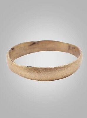 Authentic Ancient Viking Wedding Band Jewelry C.866-1067A.D. Size 9 1/4  (18.8mm