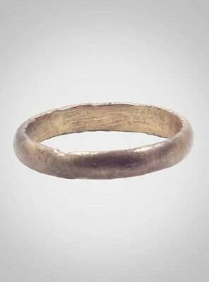 Authentic  Ancient Viking Wedding Band Jewelry C.866-1067A.D. Size 9 3/4  (19.8m