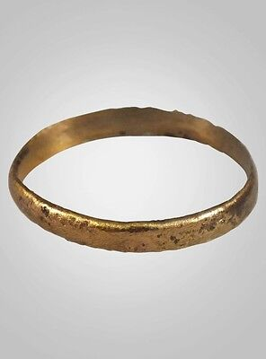 Authentic Ancient Viking Wedding Band Jewelry C.866-1067A.D. Size 10  (19.9mm)(B