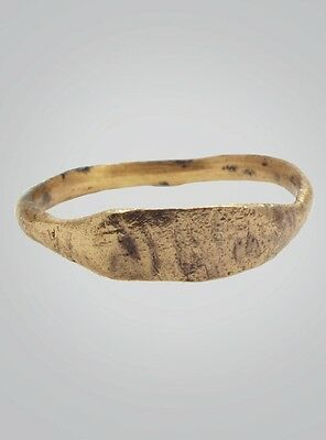 Ancient  Mans Ring With Viking Runes C.866-1067 A.D. Size 8 1/2 (18.8mm)(Brr364)