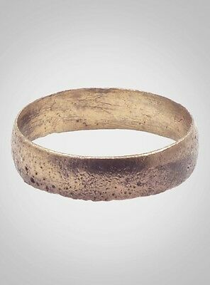 Authentic Ancient Viking Wedding Band Jewelry C.866-1067A.D. Size 9 1/4  (19.4mm