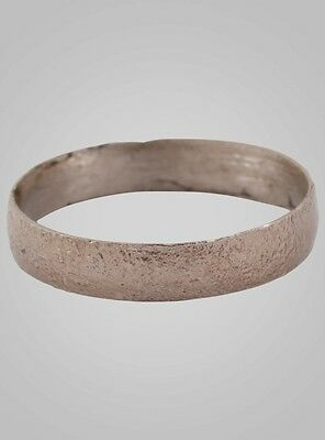 Authentic Ancient Viking Ring Silver over Bronze C.866-1067A.D. Size 10 (19.5mm)