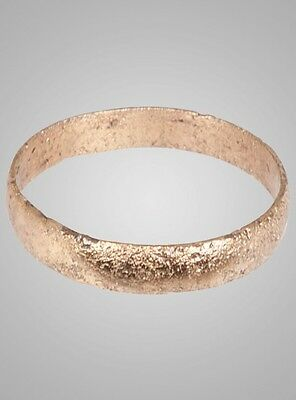 Ancient Viking  Wedding Band Jewelry C.866-1067A.D. Size 9 1/4   (18.9mm)(Brr666