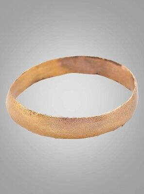 Ancient Viking Womans Wedding Band, Jewelry C.866-1067A.D. Size 5 1/4  (15.6mm)(