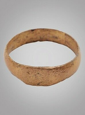 Authentic Large Medieval Mans  Wedding Ring C.13th-15th Century Size 13 (21.8mm)