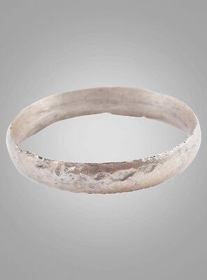 Ancient Viking Silver over Bronze Wedding Band Jewelry C.866-1067A.D. Size 9 1/2