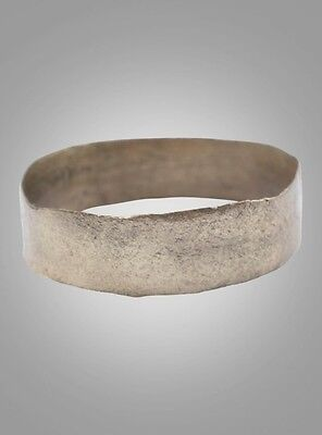Ancient Viking Wedding Band Jewelry C.866-1067A.D. Size 8 1/4   (18.3mm)(Brr980)