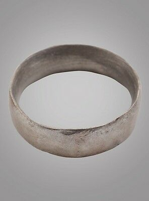 Ancient Viking Wedding Band Jewelry C.866-1067A.D. Size 9   (19mm)(Brr865)