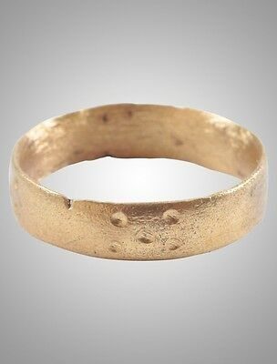 Ancient Wedding band Viking Ring C.866-1067AD. Size 12 1/4   (21.7mm)