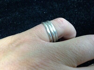 Ancient Viking Coil Snake Pinky Ring  C.866-1067 A.D. Size 9 3/4   (19.3mm)(brr1
