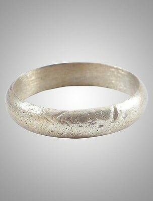 Ancient Viking Silver over Bronze Wedding Band Jewelry C.866-1067A.D. Size 10