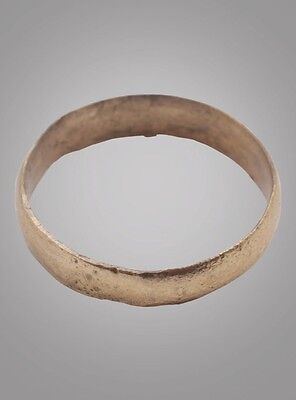 Authentic Ancient Viking Wedding Band Jewelry C.866-1067A.D. Size 9 1/4  (18.7mm