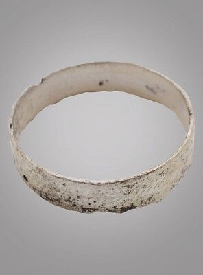 French Country Wedding Band, Silver Viking Age Ring, C.866-1067A.D. Size 9 3/4