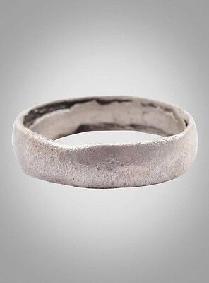 Ancient Viking Wedding Band Jewelry C.866-1067A.D. Size 8  (17.8mm)(Brr970)