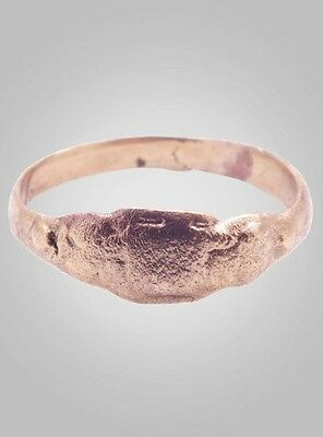 Medieval Woman's Wedding  Ring C.13th-15th Century Size 10   (19.5mm)(BRR426)
