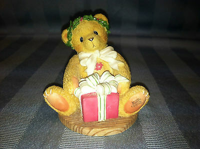 Enesco Cherished Teddies MARGY Avon Exclusive Bear With Gift Figurine 475602