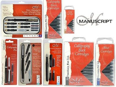 Manuscript Scribe Calligraphy Fountain Pen Set - Beginners, Left, Right Handed
