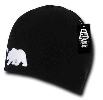 74c5cc1f01bf1c 1 Dozen Whang Cali Republic Bear Short Beanie Beanies Cap Black winter  Wholesale