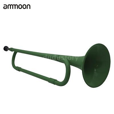 ammoon B Flat Bugle Cavalry Trumpet Environmentally for Band School Durable X3G9