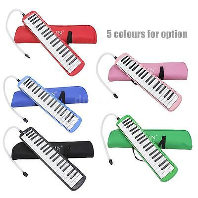 Pink 37 Piano Keys Melodica Pianica w/Carrying Bag For Students New I5N8