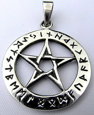 Sterling Silver (925)  Pentagram  Pendant   (5.2 Grams)   !!      Brand  New !