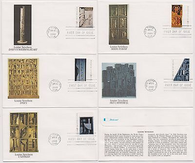 US FDC Louise Nevelson American Artist 2000 5 Covers Fleetwood Sculpture |
