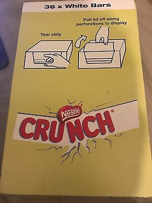 Nestle Crunch White Chocolate 31g X 36 Bars In A Sealed Box B/before 03/2018