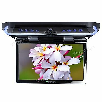 """Grey 11.6"""" HD LCD Flip Down Roof  Mount in Car Overhead Monitor Touch HDMI IR"""