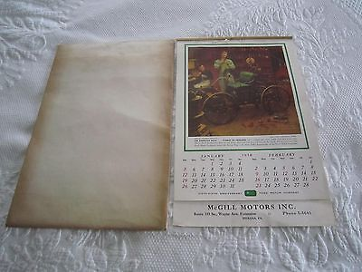 1958 FORD MOTOR CO 55th Anniv CALENDAR McGill Motors Indiana, Pa Artist Pictures