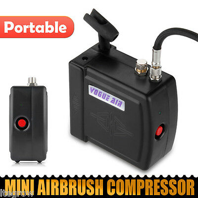 Mini Airbrush Compressor for Drawing, Painting, Cake Decorating Black HS08  UK