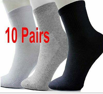 10 Pairs Men's Socks Thermal Casual Soft Cotton Sport Sock Gift 3 Colors