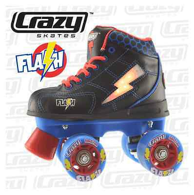 BOYS!! - LED LIGHT UP Roller Skates, Black/Blue/Red, Awesome FUN Times!!